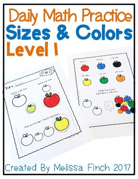 Daily Math Practice for Students with Autism- Level 1/Big