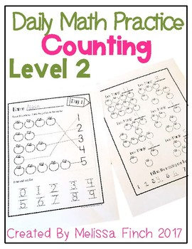 Daily Math Practice for Students with Autism- Level 2/Counting Quantities