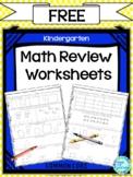 Daily Math Kindergarten Worksheets FREE