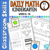 Daily Math Worksheets for Kindergarten Set 6 Weeks 31-36