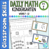 Daily Math Worksheets for Kindergarten Set 2 Weeks 7-12