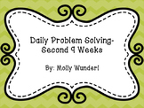 Daily Math Problem Solving-2nd 9 Weeks