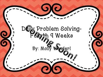 Daily Math Problem Solving BUNDLE