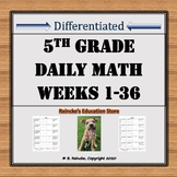 Daily Math Problems 5th Grade (36 weeks)