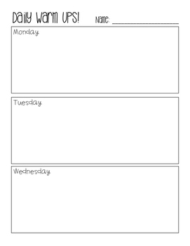 Daily Math Problems Answer Sheet
