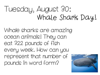 Daily Math Problems - August