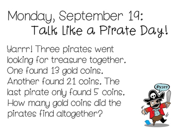 Daily Math Problems - September