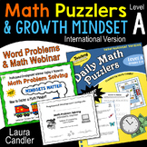 Word Problems - Math Puzzlers Level A and Webinar (International Version)