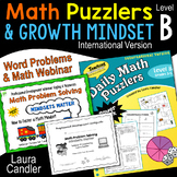 Daily Math Puzzlers Level B and Webinar (International)