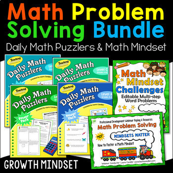 Math Problem Solving Mega Bundle (Word Problems & Math Mindset Webinar)