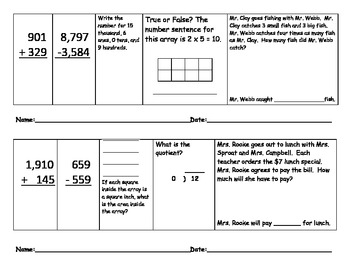 Daily Math Review 11-20:  Common Core Grade 3