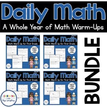 Daily Math Review 1st Grade BUNDLE