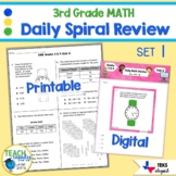 Daily 3rd Grade STAAR Math Review 1st Six Weeks - New Math TEKs