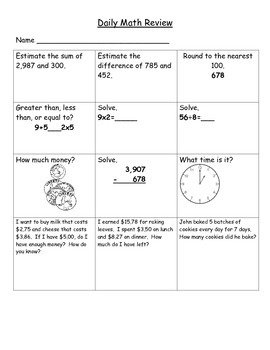 Daily Math Review 2