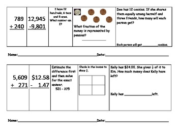 Daily Math Review 21-30: Common Core Grade 3