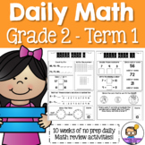 Daily Math Review 2nd Grade - Term 1 (Aus & US Version)