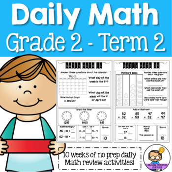 Daily Math Review 2nd Grade - Term 2 (Aus & US Version) | TpT