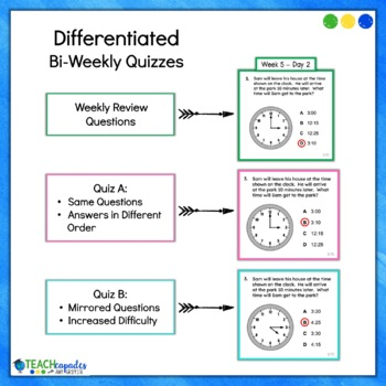 Daily 3rd Grade STAAR Math Review 2nd Six Weeks - New Math TEKs