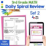 3rd Grade Daily Spiral Math Review Set 2 - TEKs/STAAR Aligned