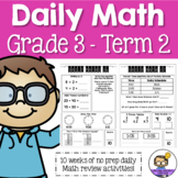 Daily Math Review 3rd Grade - Term 2 (Aus & US Version)