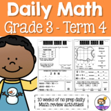 Daily Math Review 3rd Grade - Term 4 (Aus & US Version)