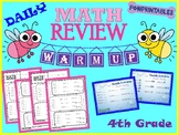 Daily Math Review - 4th Grade - 1st, 2nd, & 3rd Quarter - NO PREP!