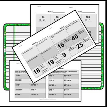 Daily Math Review 4th Grade Freebie Common Core Aligned