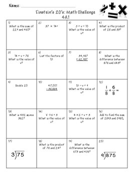 Common Core Daily Math Review (4th grade)