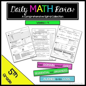 5th Grade Math Review: Weeks 1 - 4