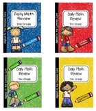 Daily Math Review  Bundle 1st - 5th Grade - Daily Spiral M