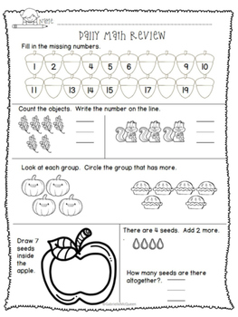 Daily Math Review: Counting and Adding to 10