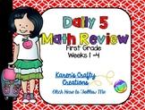 Daily Math Review: First Grade (Weeks 1 thru 4)