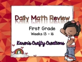 Daily Math Review: First Grade (Weeks 13 thru 16)