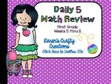 Daily Math Review: First Grade (Weeks 5 thru 8)