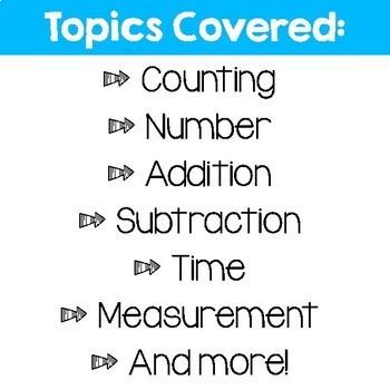 Daily Math Review – Grade 1 Term 1 (Aus & US Version)