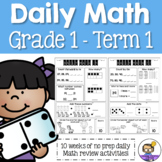 Daily Math Review 1st Grade - Term 1 (Aus & US Version)