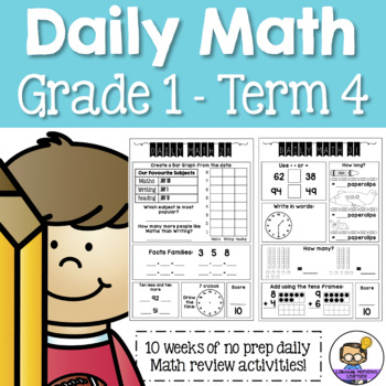 Daily Math Review – Grade 1 Term 4 (Aus & US Version)