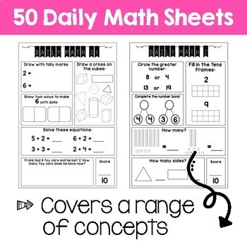 Daily Math Review – Grade 1 Term 2 (Aus & US Version)