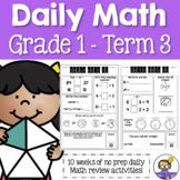Daily Math Review – Grade 1 Term 3 (Aus & US Version)