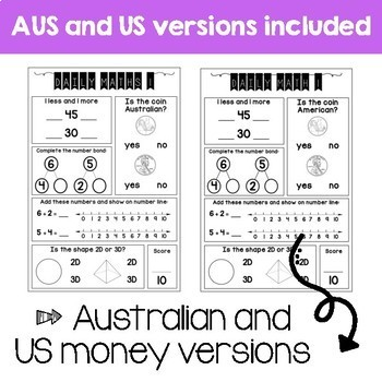 Daily Math Review – Grade 1 Term 3 (Aus & US Version)