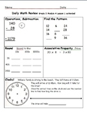 Daily Math Review, Grade 3