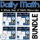 Daily Math Review KINDERGARTEN BUNDLE