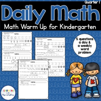 Daily Math Review KINDERGARTEN Quarter 1