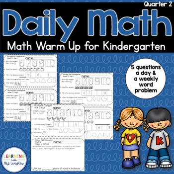 Daily Math Review KINDERGARTEN Quarter 2