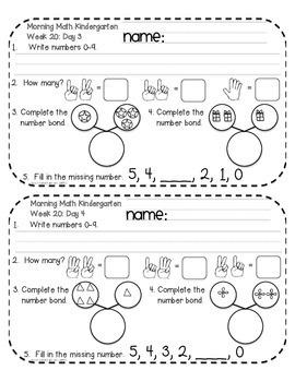 Daily Math Review KINDERGARTEN Quarter 3