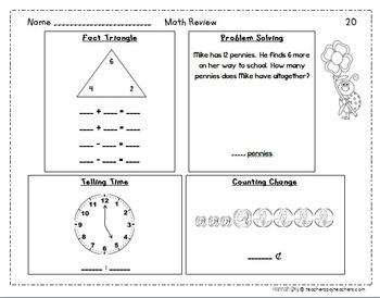 Spring Math Review- No Prep, Just Print!