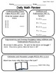 Daily Math Review Pages for August