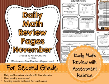 Daily Math Review Pages for November