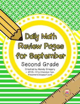 Daily Math Review Pages for September