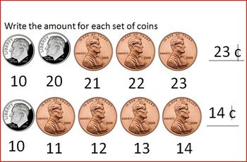 Daily Math Review: Pennies and Dimes
